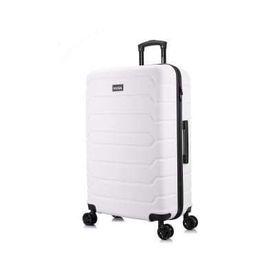 Trend 28 in. White Lightweight Hardside Spinner Suitcase