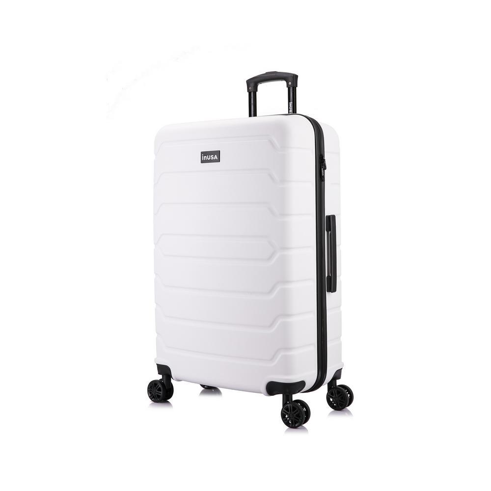 Trend 28 in. White Lightweight Hardside Spinner Suitcase