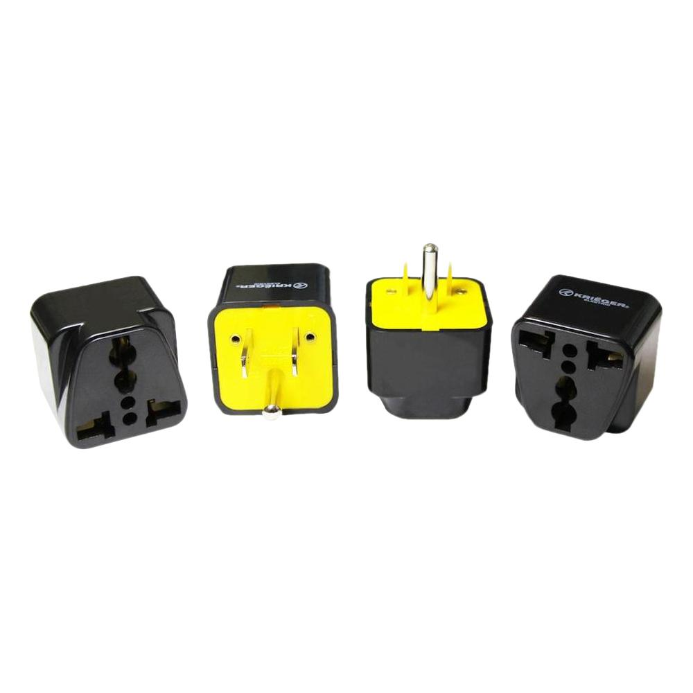 Krieger Universal to American Plug Adapter (4-Pack)