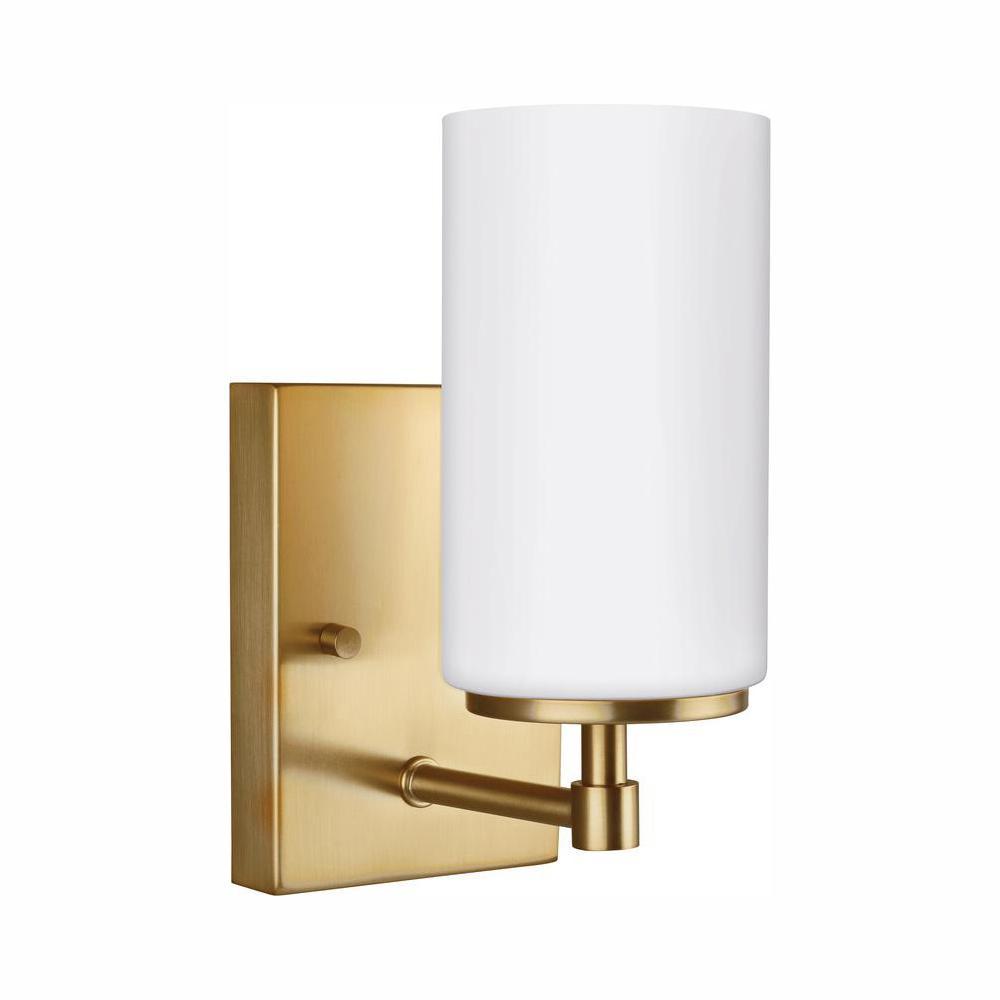 Alturas 1-Light Satin Brass Sconce with LED Bulb