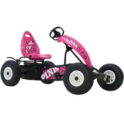 Compact Pink Pedal Cart