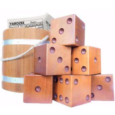 Giant Yardzee and Yardkle Yard Dice - 6 Dice Set