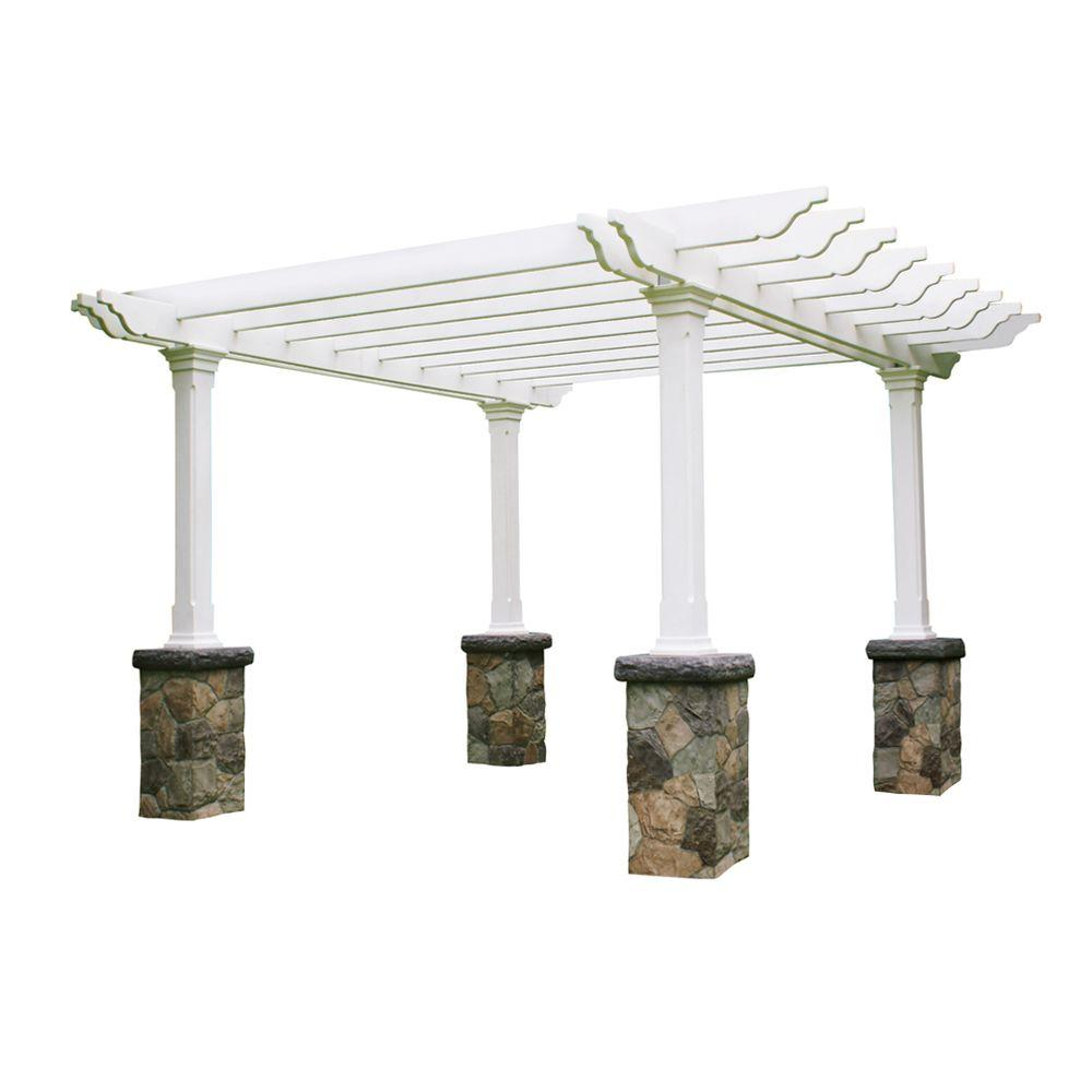 Eye Level Heritage Fieldstone 14 ft. x 14 ft. Pergola