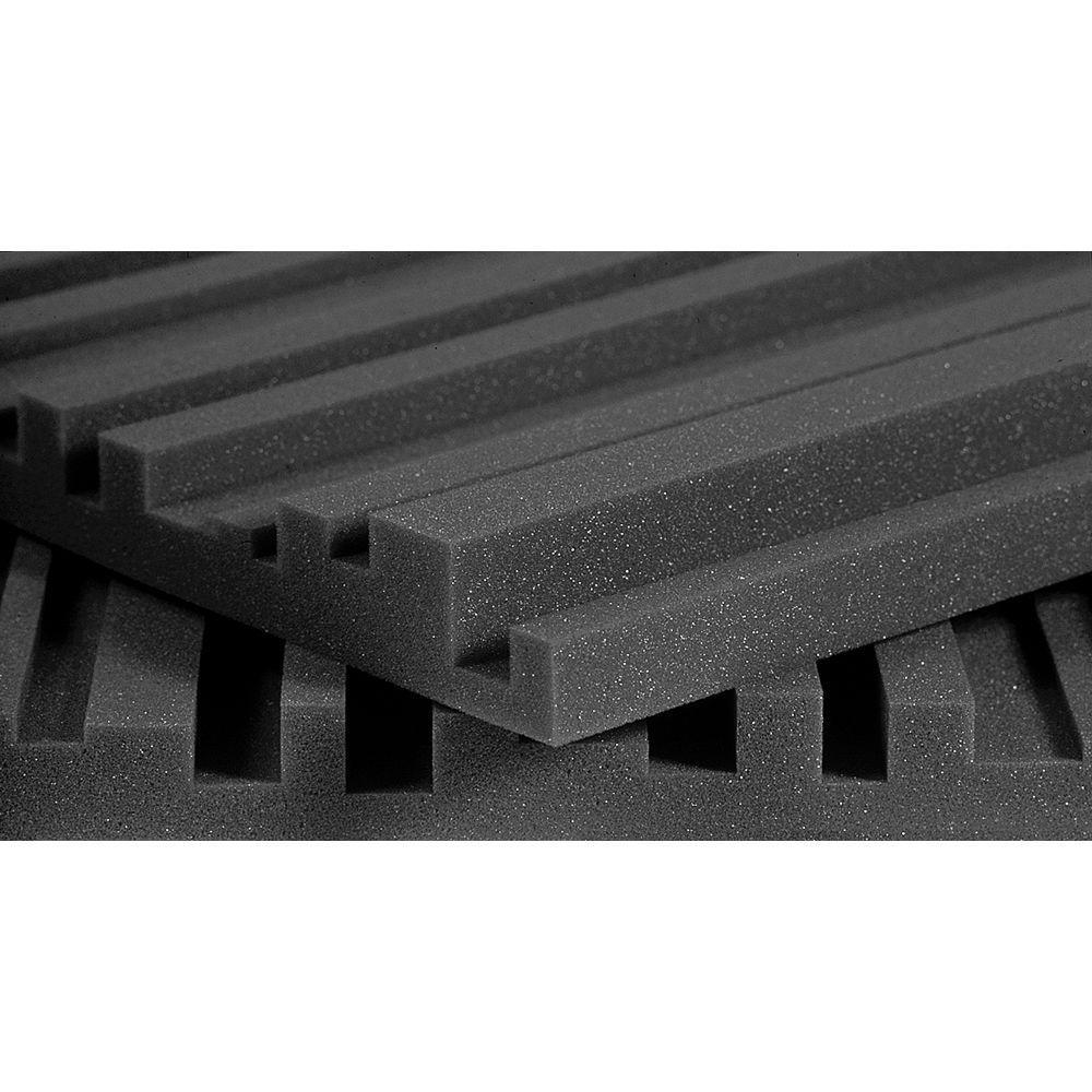 Auralex Studiofoam Metro Panels - 2 ft. W x 4 ft. L x 2 in. H - Charcoal (12 Panels per Box)