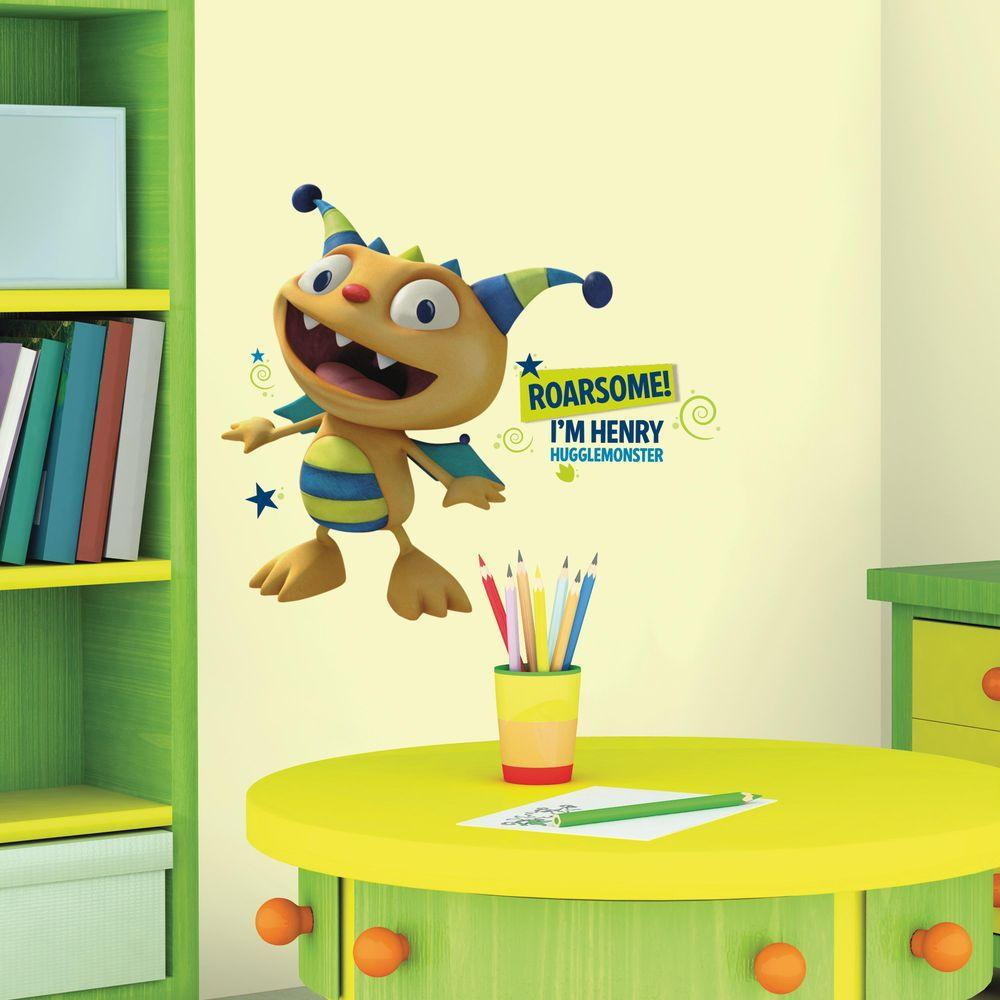 RoomMates 5 in. x 19 in. Henry Hugglemonster 14-Piece Peel and Stick ...