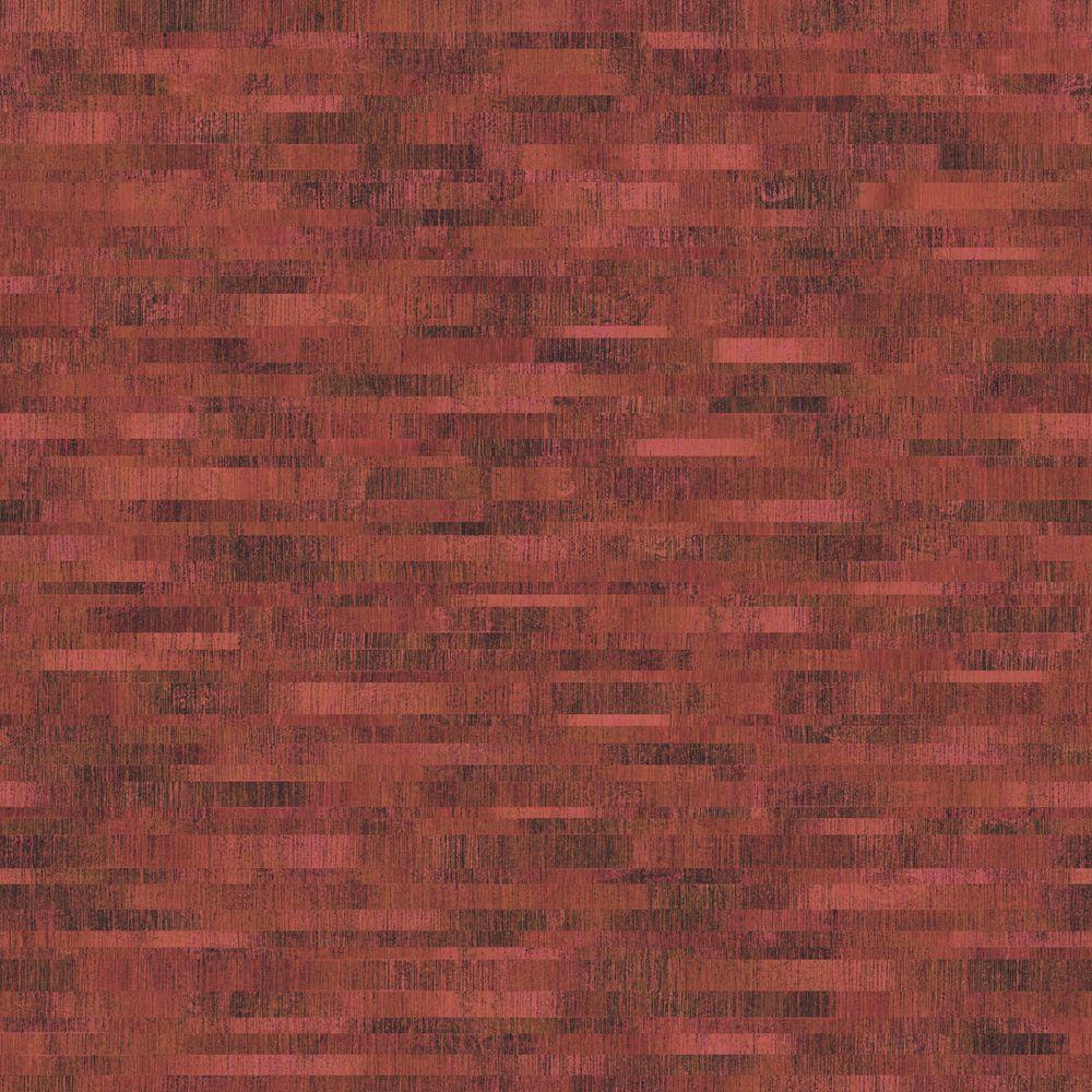 The Wallpaper Company 8 in. x 10 in. Burgundy Mini Subway Tiles Wallpaper Sample