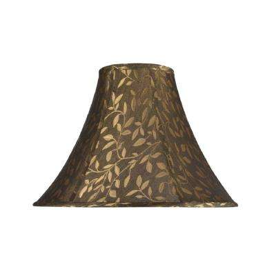 Aspen creative corporation compare 16 in x 12 in brown bell lamp shade