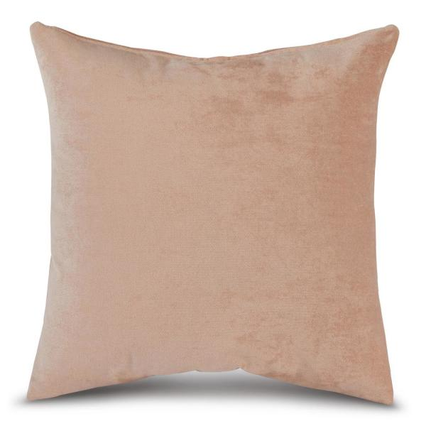 Solid Sugar Velvet 24 in. x 24 in. Square Throw Pillow Cover