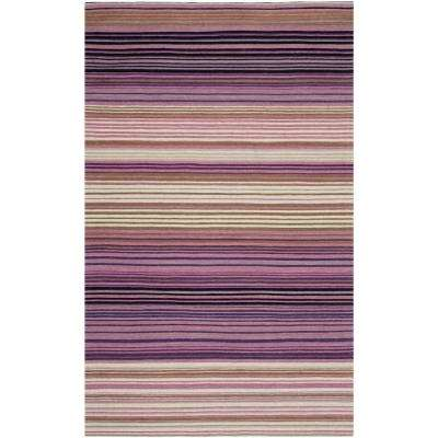 Marbella White/Lilac 4 ft. x 6 ft. Area Rug