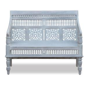 Admirable Home Decorators Collection Maharaja Sandblasted White Bench Alphanode Cool Chair Designs And Ideas Alphanodeonline