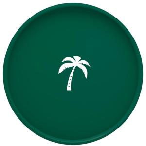 Kraftware Kasualware Palm Tree 14 inch Round Serving Tray in Green by Kraftware
