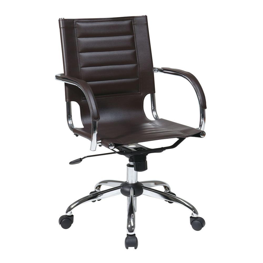 Trinidad Espresso Vinyl Office Chair