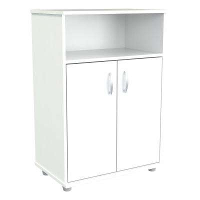 23.62x14.96x32.87 in. Microwave Storage Utility Cabinet in Laricina White