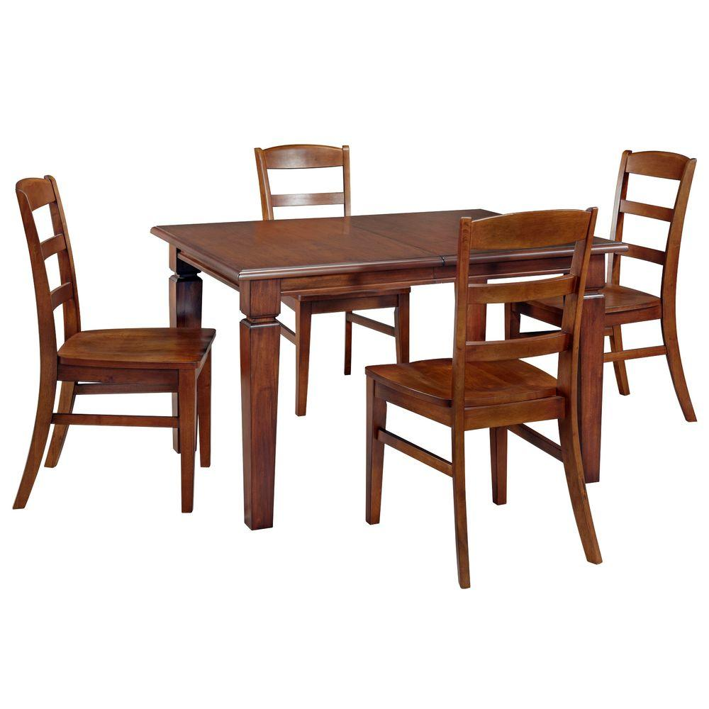 Home Styles The Aspen Collection 5-Piece Dining Table Set