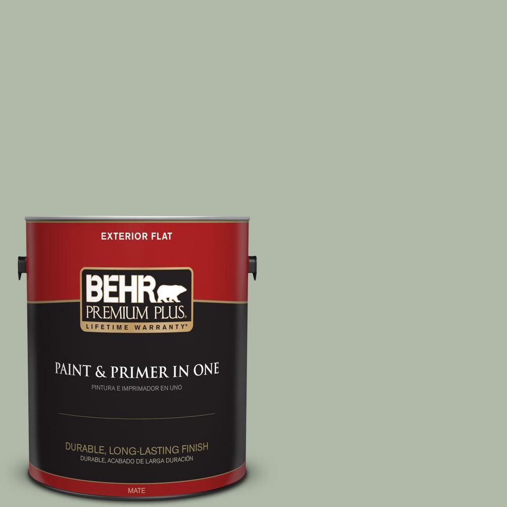 BEHR Premium Plus 1-gal. #N390-3 Jojoba Flat Exterior Paint