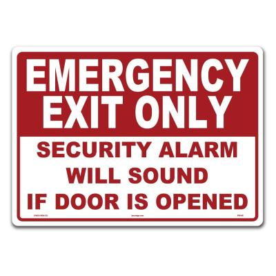 14 in. x 10 in. Emergency Exit Sign Printed on More Durable Thicker Longer Lasting Styrene Plastic