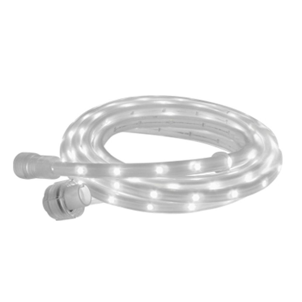 BAZZ 6 ft. Linkable Self Adhesive White Rope Lighting