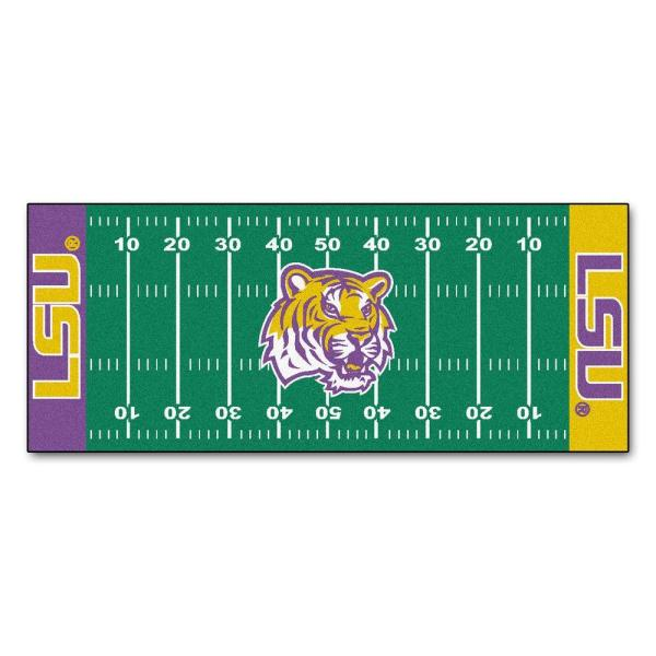 Louisiana State University 3 ft. x 6 ft. Football Field Rug Runner Rug