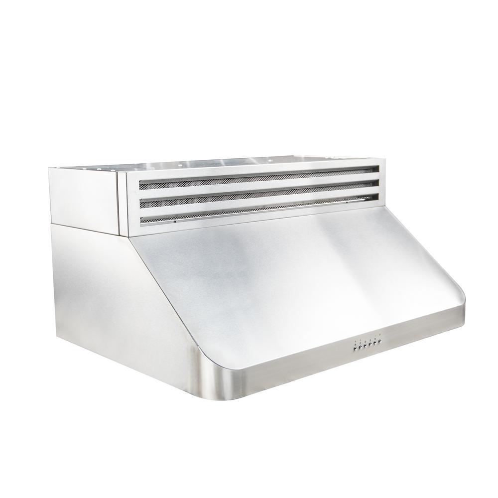 36 in. Recirculating Under Cabinet Range Hood in Stainless Steel
