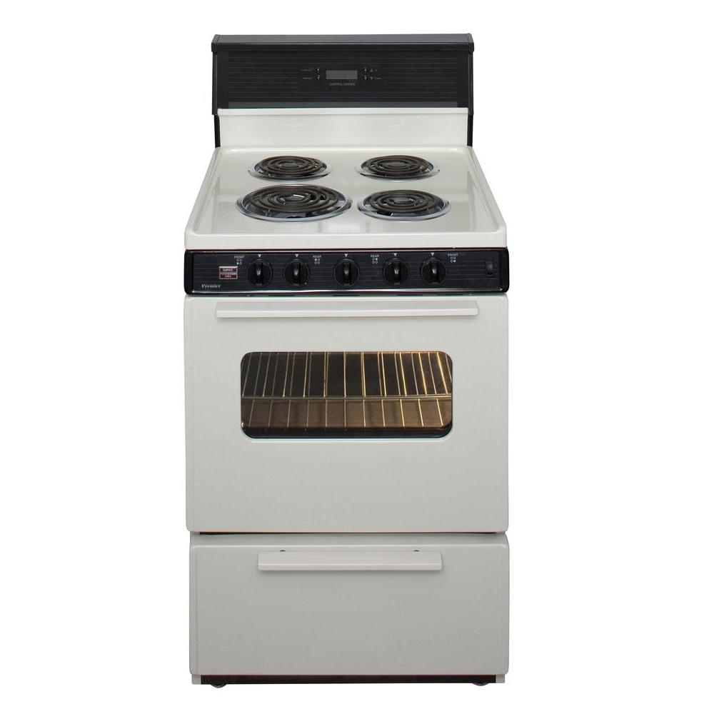 Premier 24 in. 2.97 cu. ft. Electric Range in Biscuit