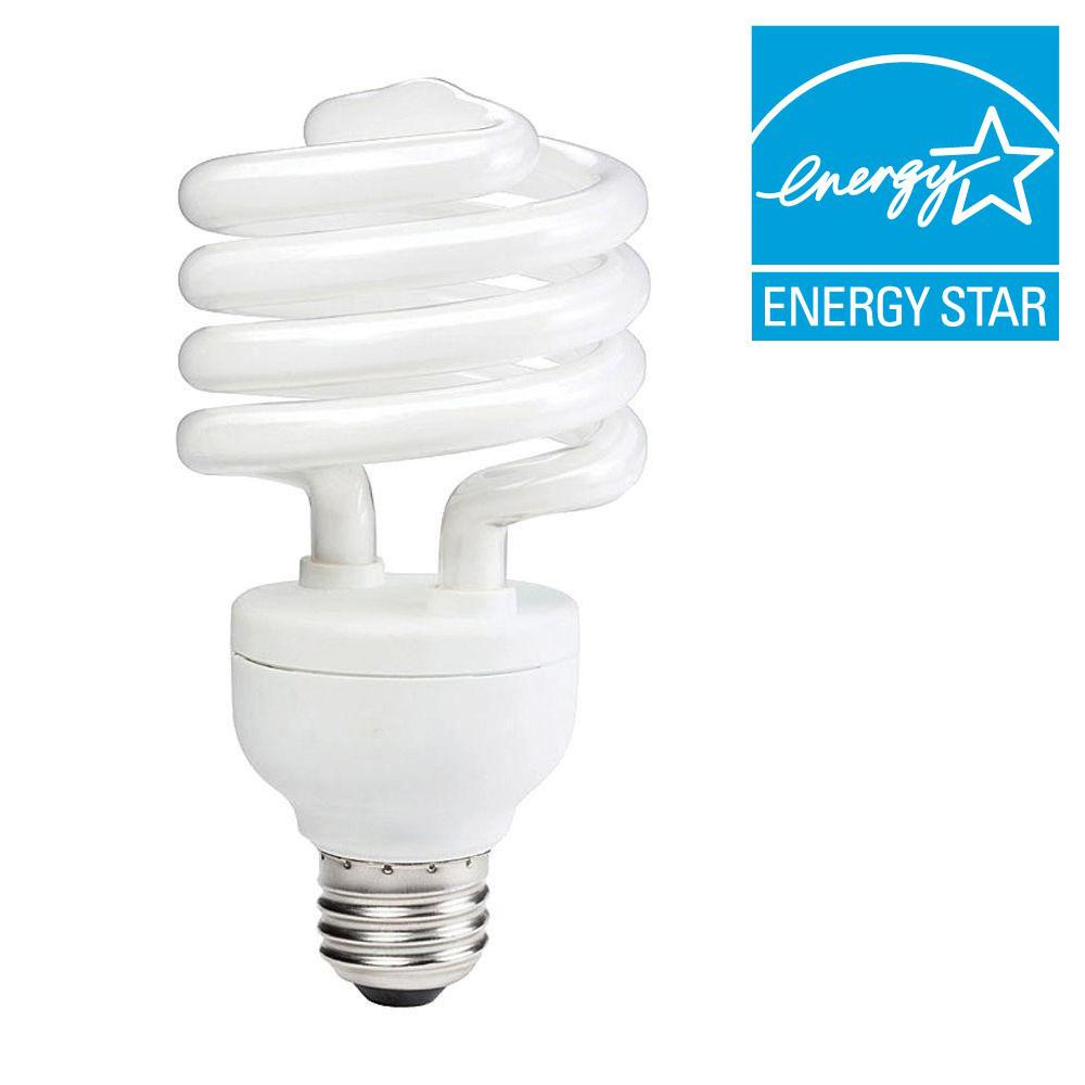 100W Equivalent Daylight (5000K) Spiral CFL Light Bulb (6-Pack)