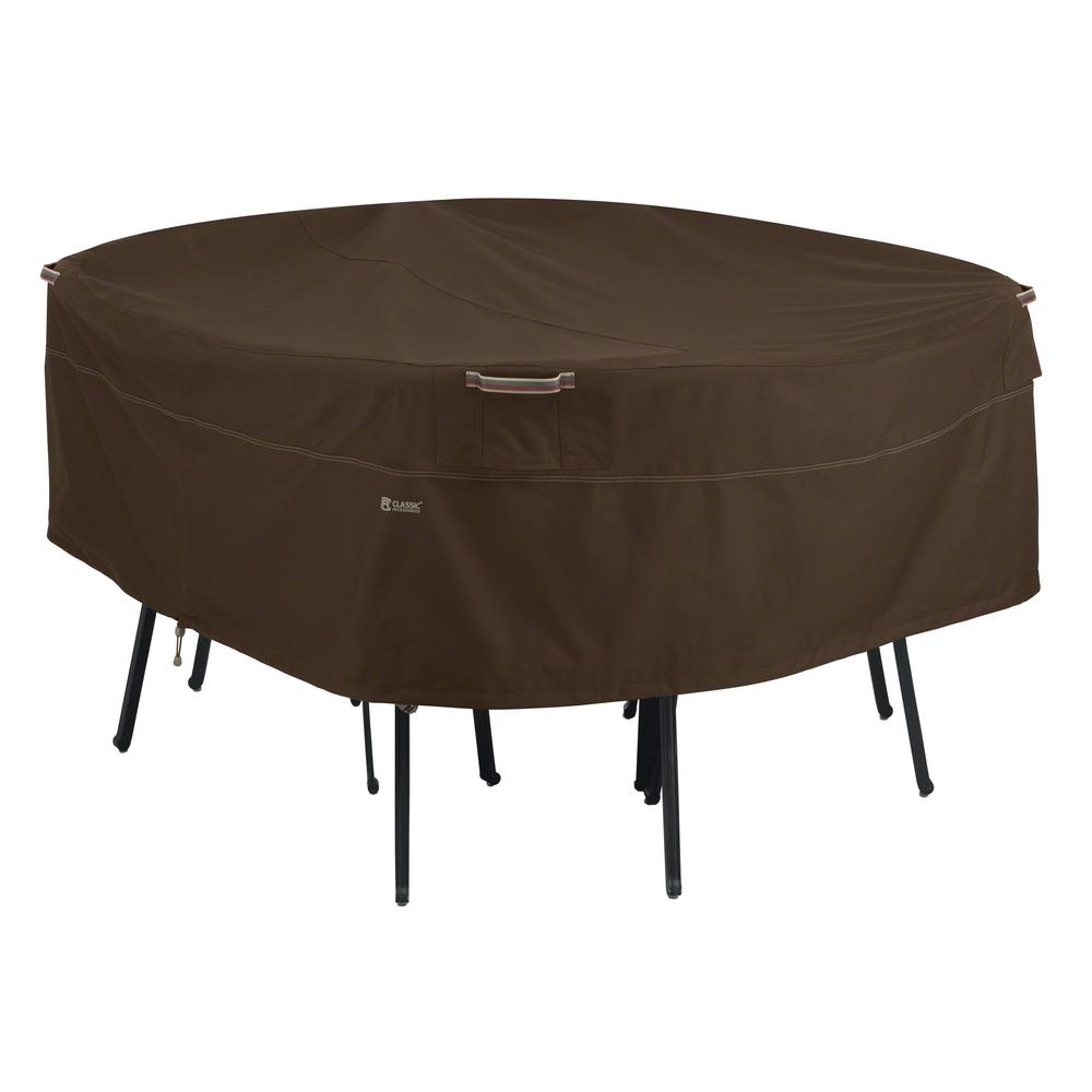 Clic Accessories Madrona Large Rainproof Round Patio Table And Chair Set Cover 55 722 046601 Rt The Home Depot