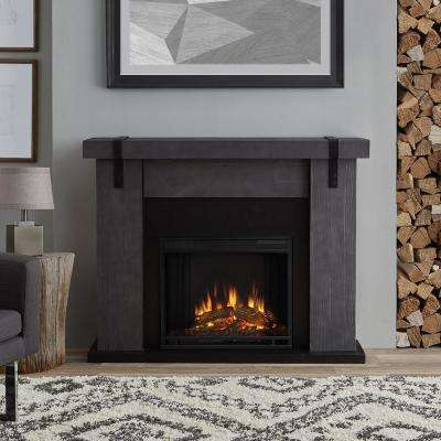 Aspen 49 in. Freestanding Electric Fireplace TV Stand in Gray Barnwood