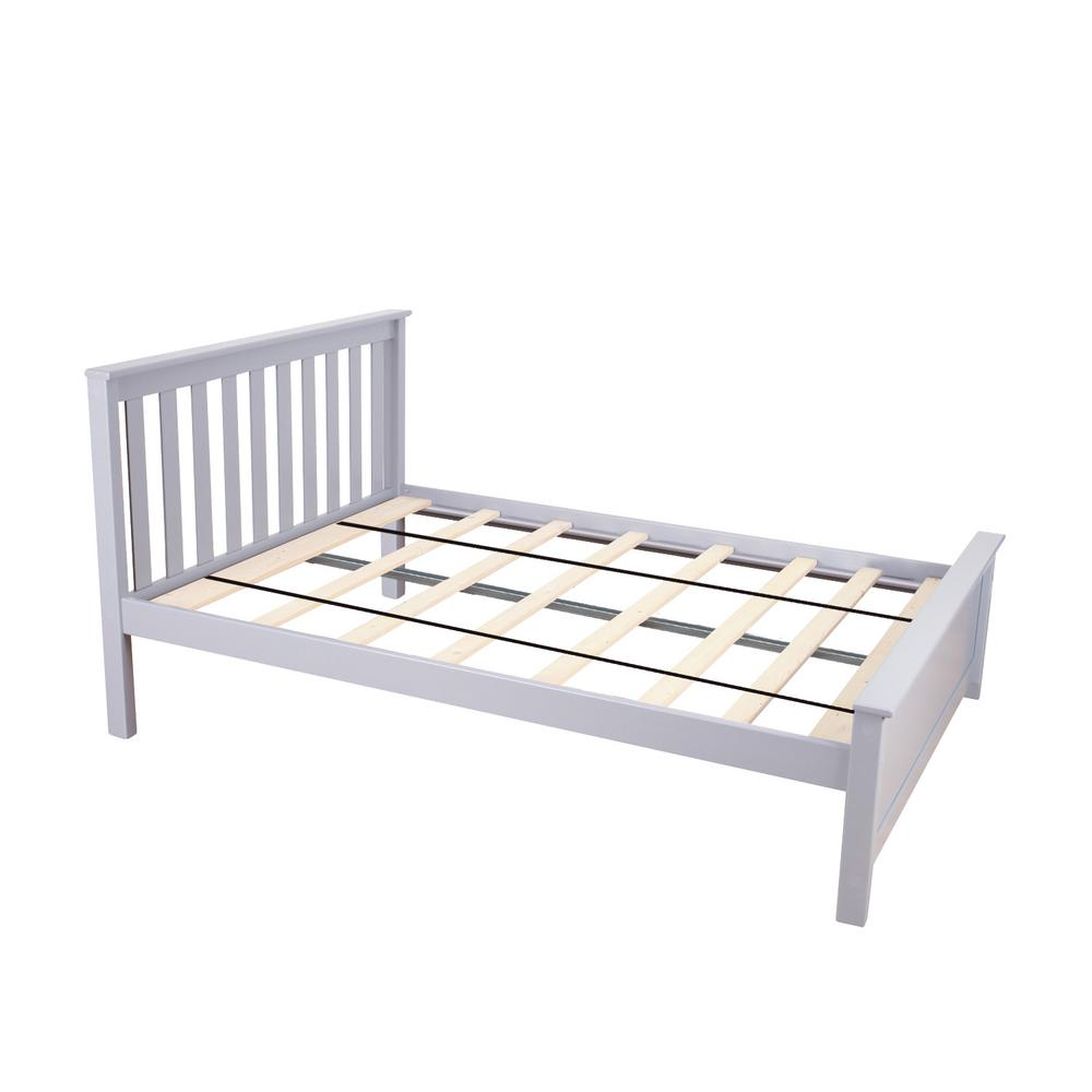 Grey Full Size Single Bed