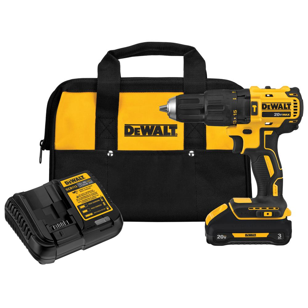 20-Volt MAX Lithium-Ion Cordless Brushless 1/2 in. Compact Hammer Drill with