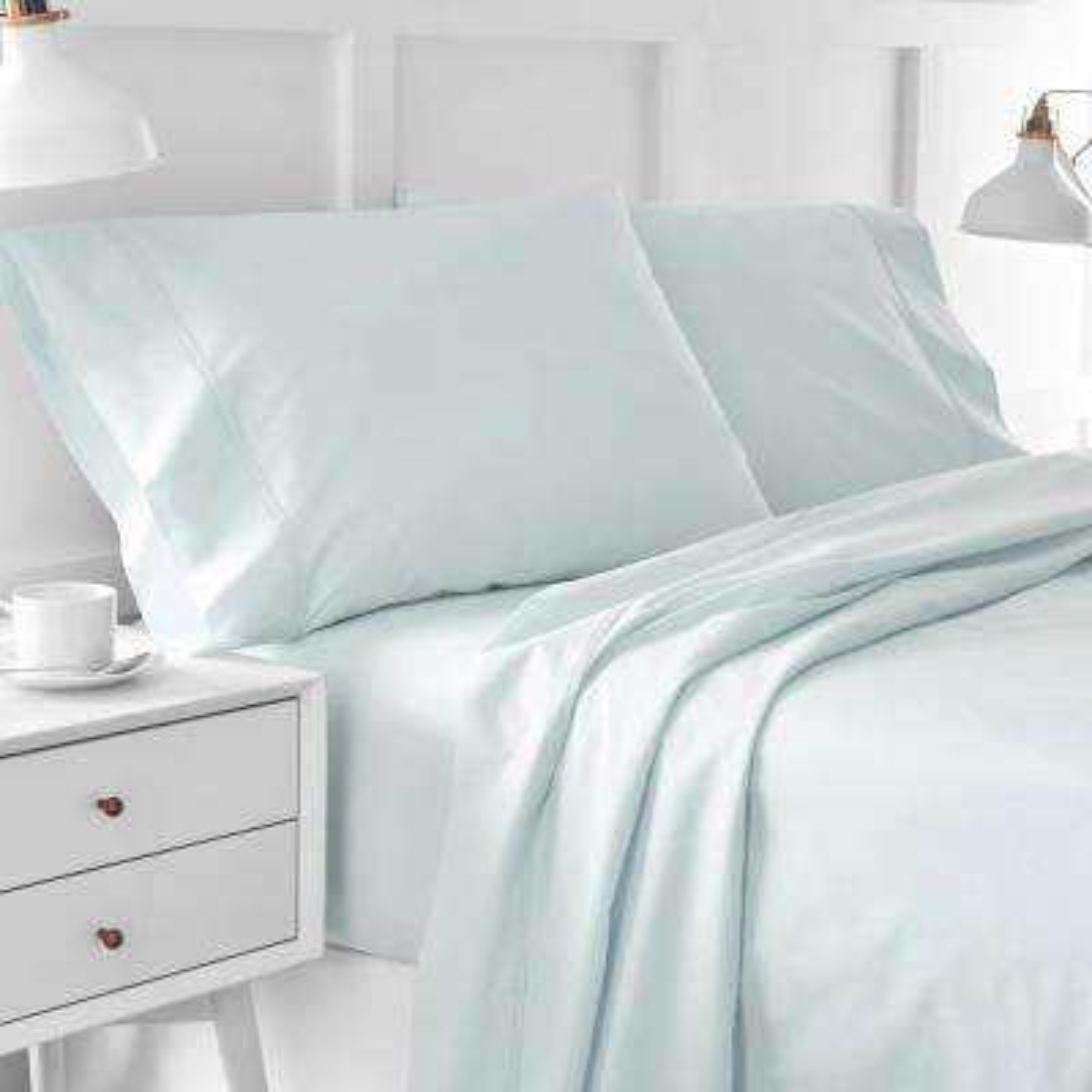 Urban Edgelands T200 Seaglass Green Organic Cotton King Pillowcase (Set of 2)