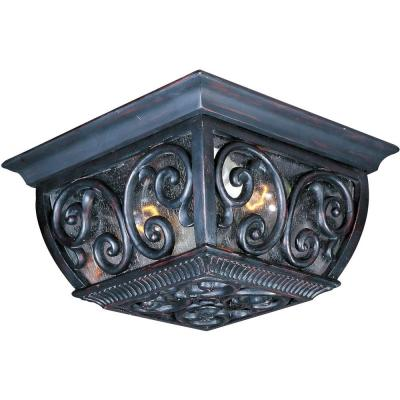 Newbury Vivex 2-Light Oriental Bronze Outdoor Flushmount