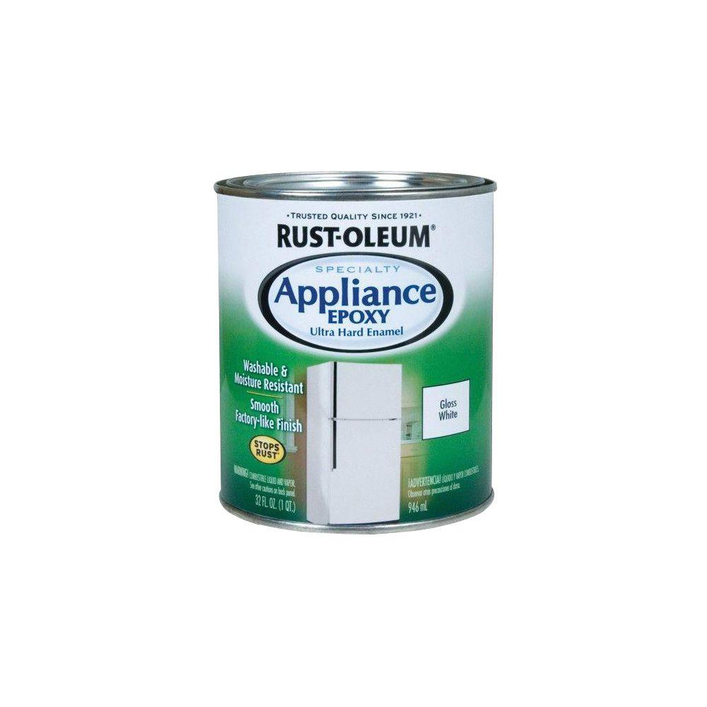Rust-Oleum Specialty 1 qt. White Gloss Appliance Paint (Case of 2 ...