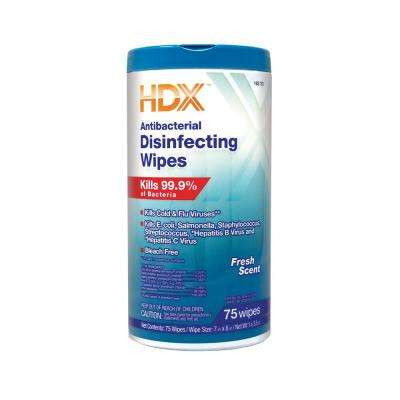 Fresh Scented Antibacterial Disinfecting Wipes (75-Count)