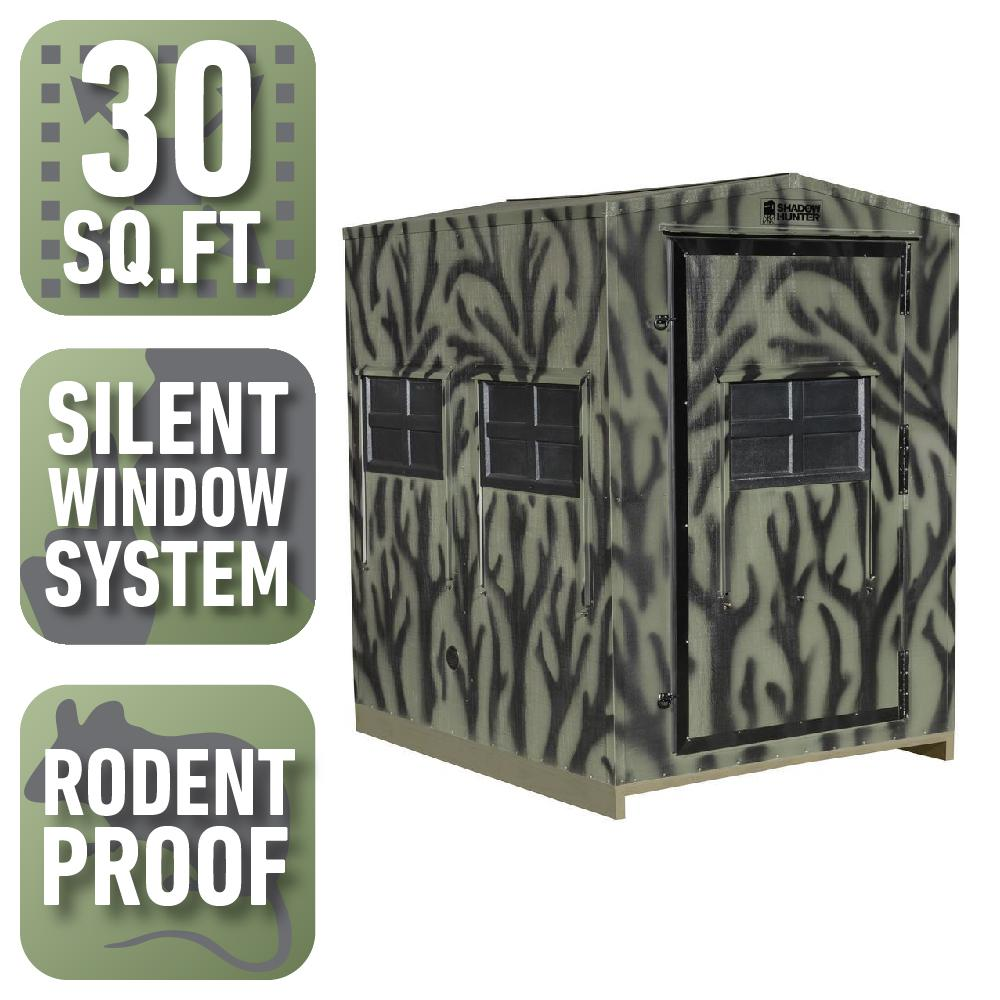 series outdoorsman kit blinds shadow blind the hunter dp manufacturer gun insulated hunting from