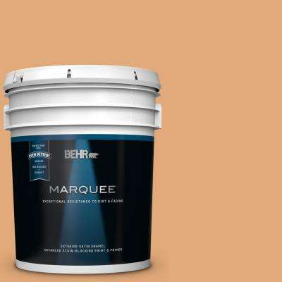 5 gal. #MQ4-36 Thai Ice Tea Satin Enamel Exterior Paint and Primer in One