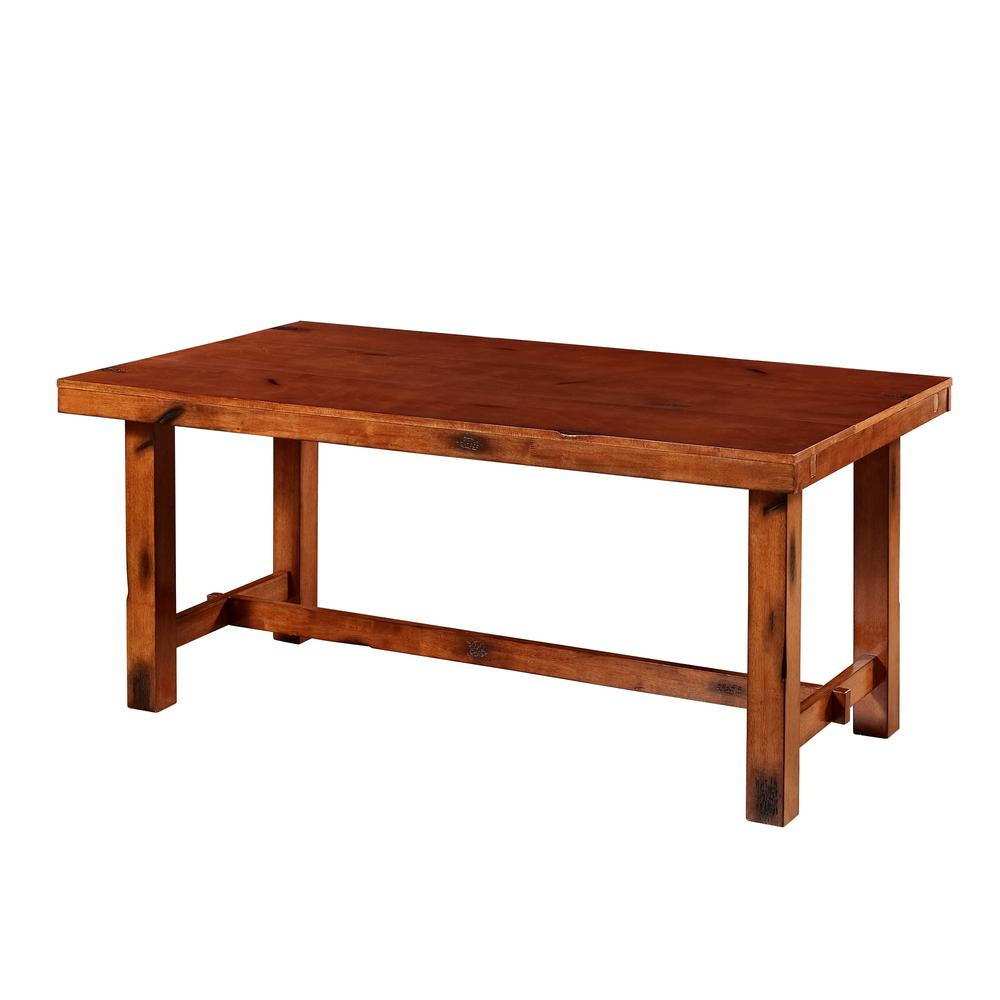 walker edison furniture company huntsman dark oak extendable dining table - Dark Oak Dining Table