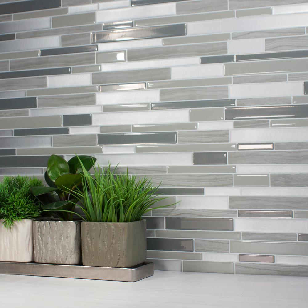 This Review Is From Milano Grigio 11 55 In W X 9 63 H L And Stick Self Adhesive Decorative Mosaic Wall Tile Backsplash