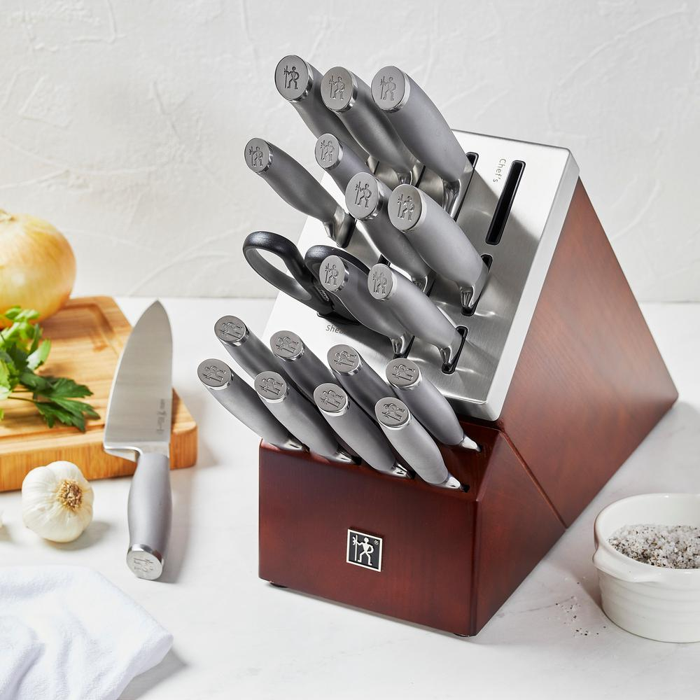Henckels Modernist 14 Piece Self Sharpening Knife Block Set 17503 014 The Home Depot