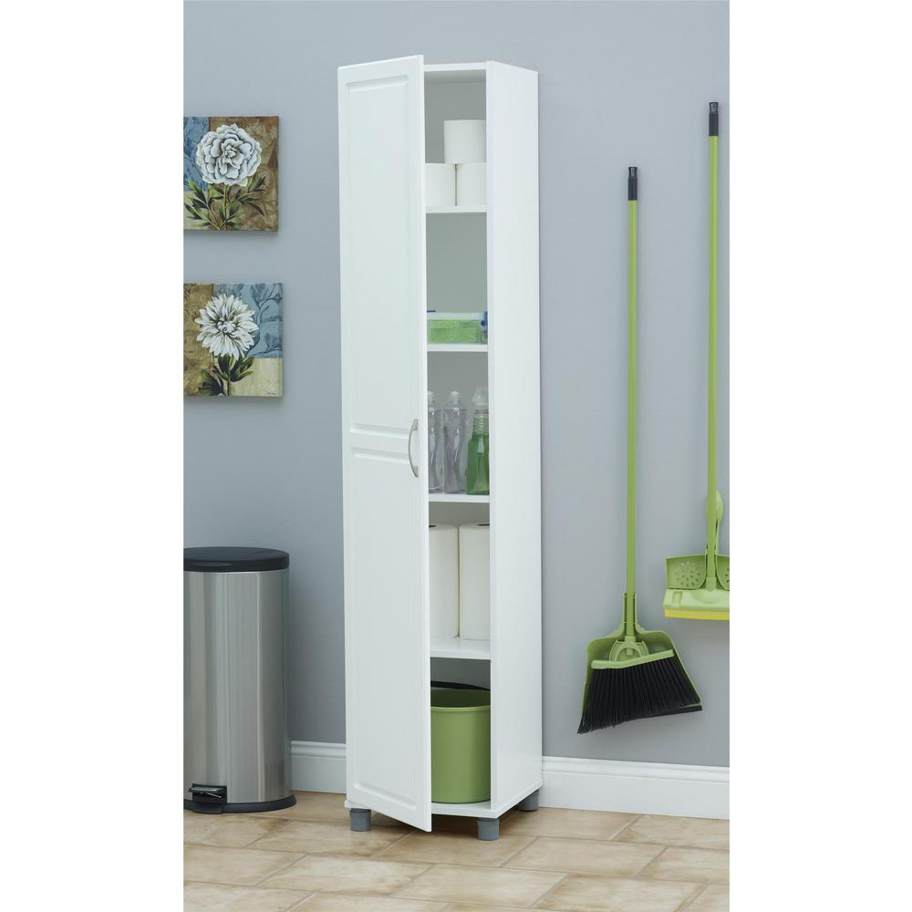 Tall Kitchen Storage Units: SystemBuild Kendall White Storage Cabinet-7360401PCOM