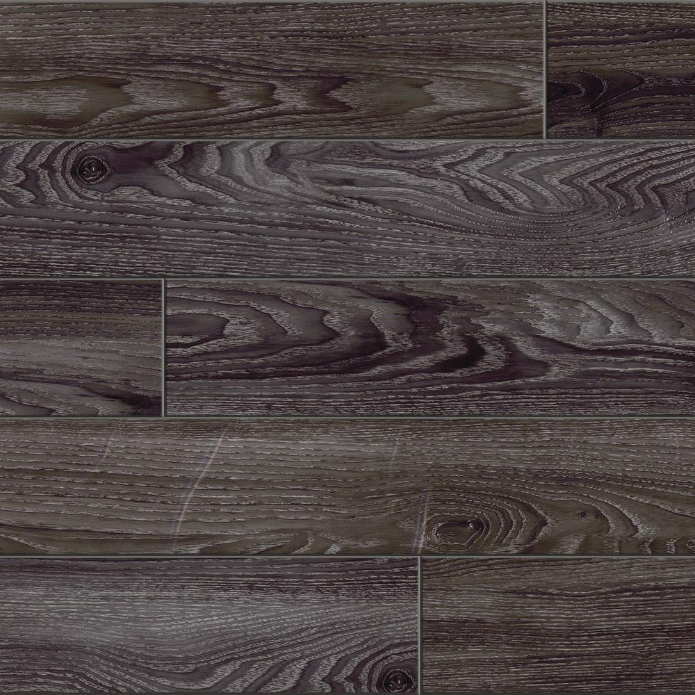 Black Oak 7.5 in. x 47.6 in. Luxury Vinyl Plank Flooring (24.74 sq. ft. / case)
