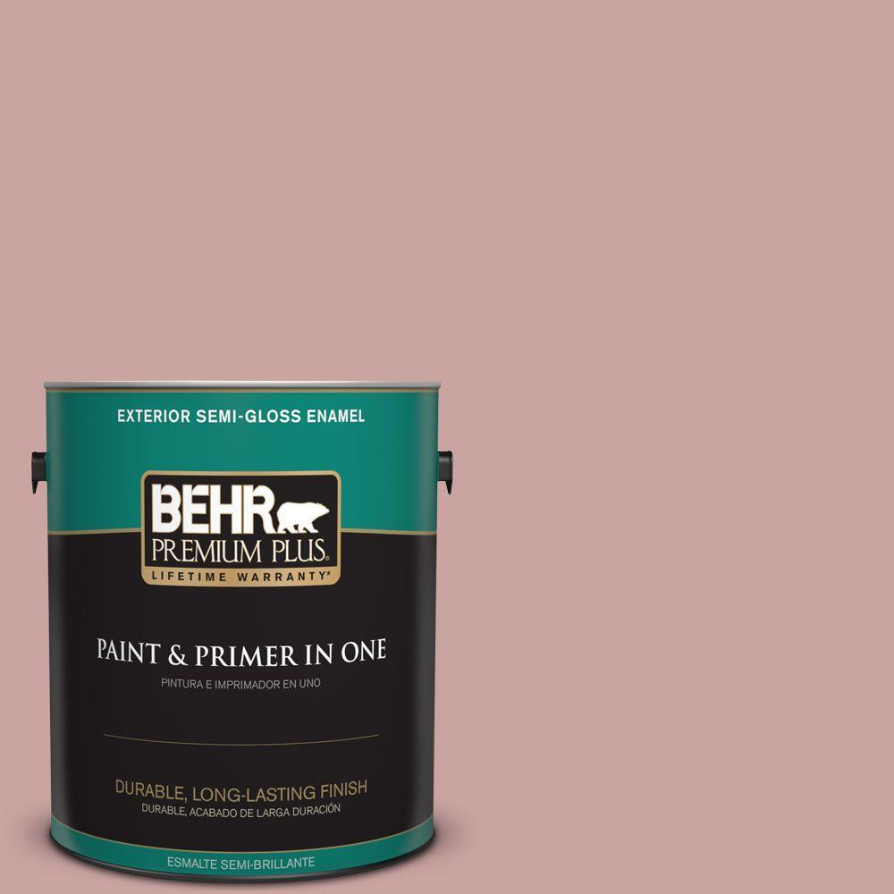 1-gal. #160E-3 Rose Potpourri Semi-Gloss Enamel Exterior Paint