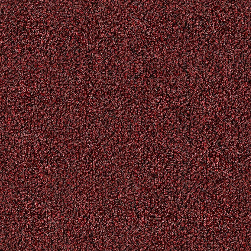Carpet Sample - Top Rail 26 - Color Hearth Throb Loop 8 in. x 8 in.