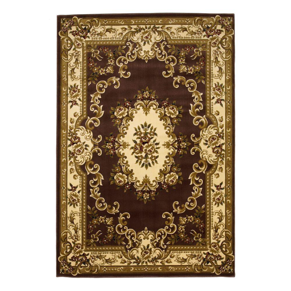 Aubusson Plum/Ivory 7 ft. 7 in. x 10 ft. 10 in.