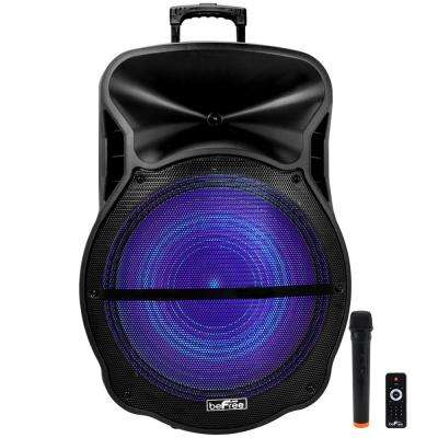 Portable Rechargeable Bluetooth Party Speaker with Sound Reactive LED Party Lights