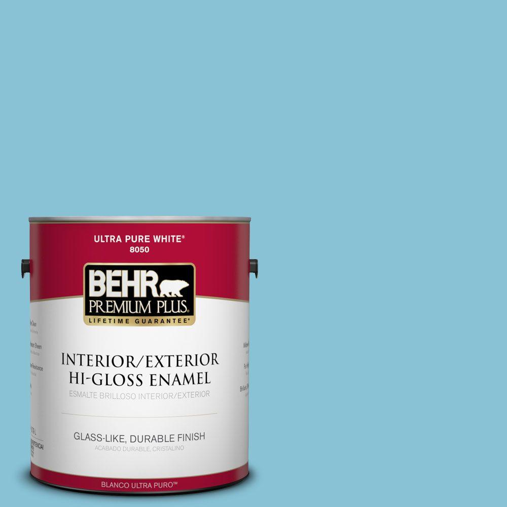1-gal. #540D-4 Dreaming Blue Hi-Gloss Enamel Interior/Exterior Paint