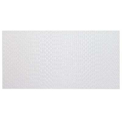 Kent White Brillo 12 in. x 24 in. x 8.75mm Glossy Porcelain Wall Tile (8 pieces / 14.74 sq. ft. / box)