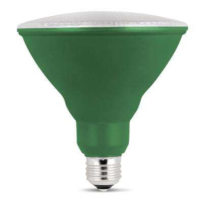 90W Equivalent Green PAR38 Spot LED Light Bulb (Case of 4)