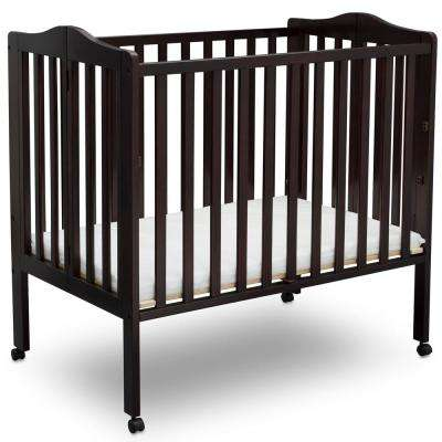 Portable Folding Crib Dark Chocolate with Mattress