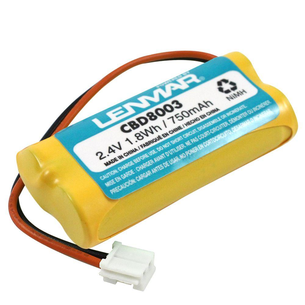Lenmar Nickel-Metal Hydride 750mAh/2.4-Volt Cordless Phone Replacement Battery
