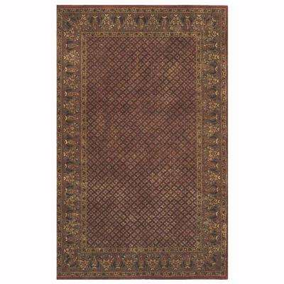Lichi Rust 5 ft. 3 in. x 8 ft. 3 in. Area Rug
